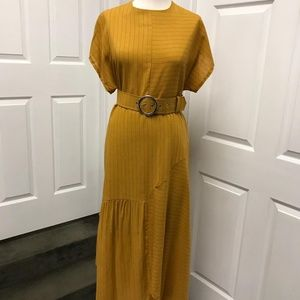 Imported Free Asymmetrical Dress with belt